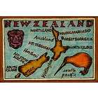 New Zealand Map Leather Photo Album In Color
