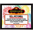 Retirement Marquee 8x10 Personalized Plaque