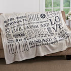 Our Life Together Personalized Fleece Blanket