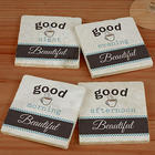 Personalized Good Morning Marble Coasters