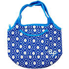 Zesty Lunch Tote in White & Blue