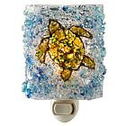 Recycled Glass Turtle Night Light