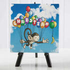 Kid's Floating Zoo Table Top Canvas Print