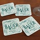 Family Word Art Coasters