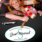 Just Married Monogram Wedding Window Cling