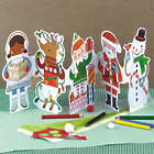Holiday Paper Doll Chain Decoration