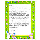 Personalized Easter Bunny Letter