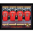 Personalized NHL Ottawa Senators Locker Room Print