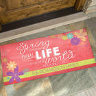 Spring Flowers Personalized Seasonal Doormats