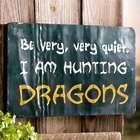 Hunting Dragons Metal Garden Sign