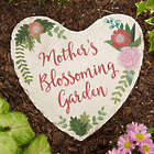 Mom's Blossoming Garden Large Personalized Garden Stone