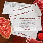Printed 4x6 Recipe Cards Cookin' Up Love Hearts Design