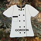 Personalized Ceramic Chef Ornament