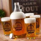 Personalized Printed Brewery Growler and Pub Glasses