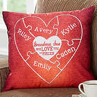 Personalized We Love You To Pieces Puzzle Heart Throw Pillow