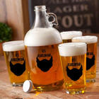 Personalized Spade Beard Growler Set
