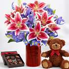 Valentine's Day Spectacular with Red Mason Jar, Bear & Chocolates