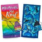 Mermaid or Shark Beach Towel and Bag
