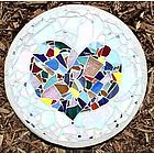 Heart Stained Glass Stepping Stone