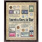 America at War Framed Coin & Stamp Set