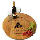 Personalized Oak Barrel Lazy Susan