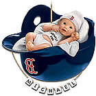 Personalized Boston Red Sox Baby's First Christmas Ornament
