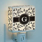 Floral Initial Personalized Night Light