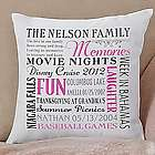 Personalized Remember When Family Pillow