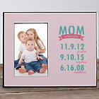 Personalized Mom Established Printed Picture Frame