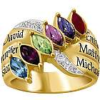 All in the Family Personalized Ring