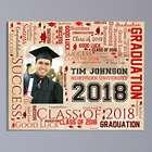 Graduation Photo Word-Art Canvas