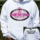 Breast Cancer Survivor Hooded Sweatshirt