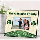 Cream and Clover Personalized Irish Picture Frame