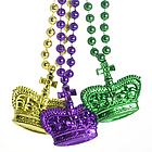 """32"""" Mardi Gras Crown Bead Necklace"""