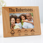 Our Family Characters Personalized Photo Frame