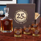 Landmark Anniversary Engraved Whiskey Decanter and Glasses