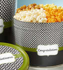 Simply Stated Congratulations 2 Gallon 4-Flavor Popcorn Tin
