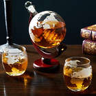 Larsen Whiskey Decanter Globe and Rocks Glasses