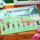 Spring Family Characters Personalized Doormat