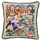 Hand Embroidered Virginia Accent Pillow