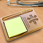 Personalized Nurse Wooden Notepad & Pen Holder