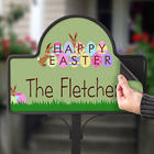 Personalized Happy Easter Magnetic Sign