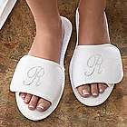 Women's Personalized Spa Slippers with Rhinestone Monogram