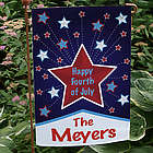 Personalized Happy 4th of July Garden Flag