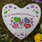 My Heart Belongs To Personalized Heart Garden Stone