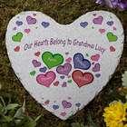 My Heart Belongs To Personalized Heart Garden Stone