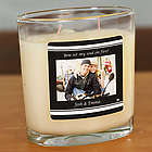 Personalized Couple's Photo Candle
