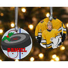 Hockey 2-Sided Personalized Photo Ornament