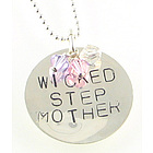 Step Mother Hand Stamped Birthstone Necklace