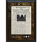New York Times Framed Front Page with U.S. Mint Coins